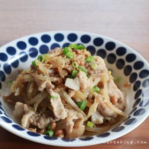 【レシピ】豚こまともやしの納豆炒め