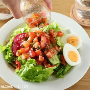 【レシピ】トマトドレッシングのサラダ