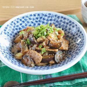 【レシピ】ワンパンレシピ♪豚肉と茄子の黒酢炒め
