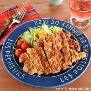 【レシピ】カリッと美味しい!アーモンドパン粉のカツレツ♪