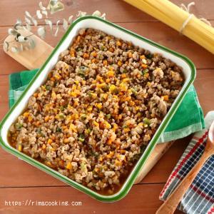 【レシピ】夏休みにお助け作り置き!たっぷり野菜の肉そぼろ♪