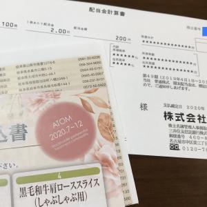 株式会社アトムの株主優待制度 配当金が200円入りました!