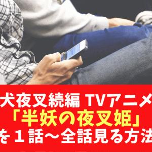 犬夜叉続編 TVアニメ「半妖の夜叉姫」を1話~全話見る方法