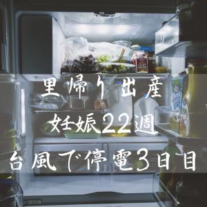 里帰り出産(妊娠22週:停電3日目)