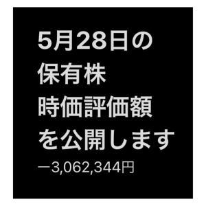 #2021年5月28日 #保有株 の#時価評価額