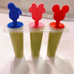 アボカドアイスをダイソーのディズニーアイスキャンディーメーカーで作りました