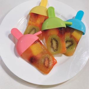 ダイソーのアイスキャンディーの型でフルーツバーを作ってみました