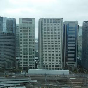 品川プリンスホテルからの眺め(リニア中央新幹線の始発駅)
