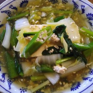 豆腐の野菜挽肉あんかけ