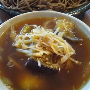 杉谷なすびと新生姜の南蛮蕎麦