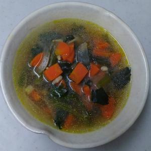 三杯鶏残り汁スープ