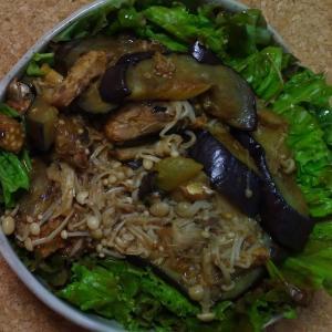 米なすとえのきの辛鯖缶炒め