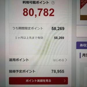 楽天市場での今月の買い物が終了!獲得予定ポイントが10万ポイントを超える!?