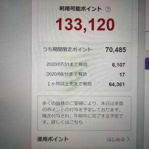 楽天スーパーポイント保有数が急上昇!!一気に13万ポイントを突破!?