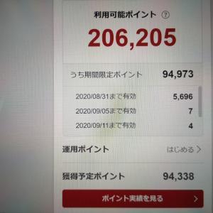 楽天スーパーポイントが20万円分超に!?でも来月末までに9万ポイントが失効予定・・・