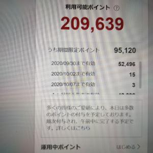 楽天スーパーポイントが20万円分を突破!今月中に5万ポイントを使い切れるか??