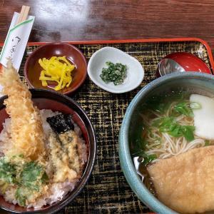 ミニ天丼と蕎麦セット