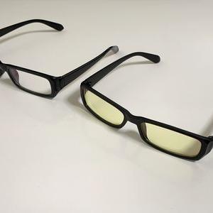 シンプルなPCメガネは楽天で!800円(税込・送料込)吊るせるケース付!