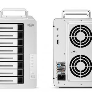 TerraMaster、8ベイで4Kビデオ編集業務を加速する最高2,100MB/sのThunderbolt 3ストレージ