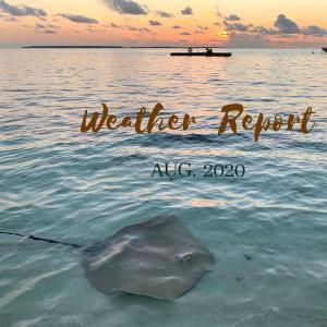 【モルディブ天気】2020年8月のお天気レポート