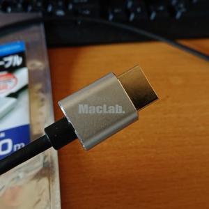 MacLabのHDMI2.0アルミシェルケーブルいいよ!【プロジェクターとの接続には長めの5mを推奨】
