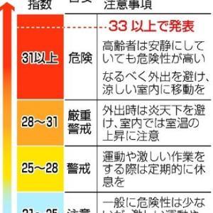 今日25日(日)も京都府など1府8県に熱中症警戒アラートを発表