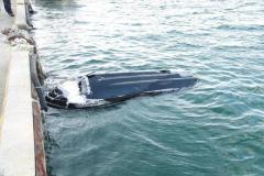 【水上バイク事故】男女3人が死亡 単独で岸壁に衝突か 現場には傷がついた3人乗りの水上バイク