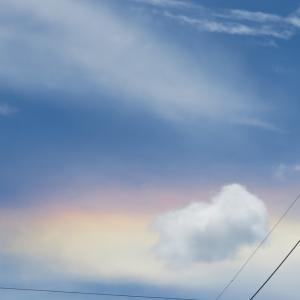 彩雲? 今日の空模様