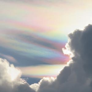 ひさびさの彩雲と龍神雲