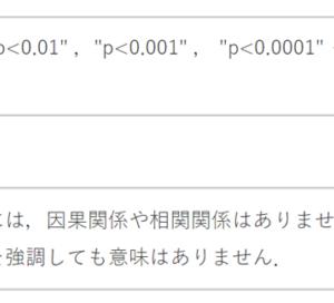 p値と有意水準の規定【p値の強調の意味】