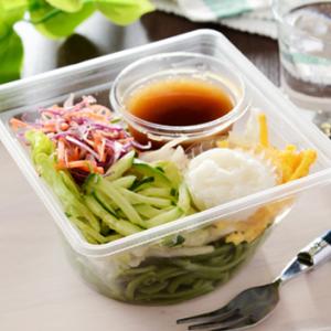 新発売のパスタサラダが新鮮かつ低カロリー