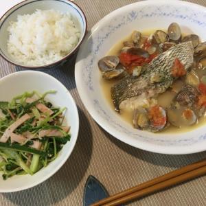 晩ご飯の献立(35)鯛の切り身で簡単アクアパッツァ(レシピ)