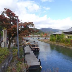 トロッコ列車で亀岡から嵐山へ。