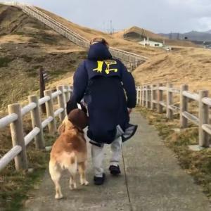 襟裳岬~猛烈な風を全身で受け突端へ!