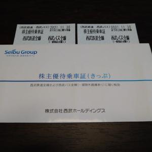 【株主優待】西武ホールディングス:優待乗車証、施設利用優待券(2021年3月分)