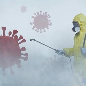 衝撃映像入手!ミャンマー消毒液散布、コロナウイルス対策