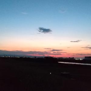 荒川の土手でのんびり~(昨夜はオリンピック開会式でしたね~♪♪)