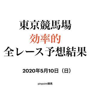 【予想結果】【中央競馬】【東京競馬場 効率的全レース予想】2020年5月10日(日)