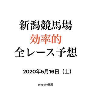 【中央競馬】【新潟競馬場 効率的全レース予想】2020年5月16日(土)