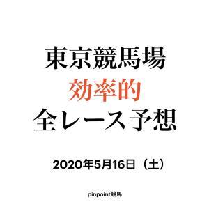 【中央競馬】【東京競馬場 効率的全レース予想】2020年5月16日(土)