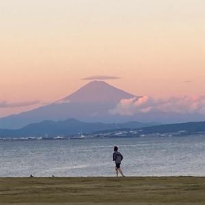 今日は石津浜海浜公園で夕方ラン