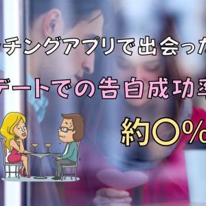 【常識】マッチングアプリで出会った人との初デートでの告白成功率は約〇%