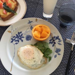 簡単ハムエッグ朝食!いろはにすとさんのyoutubeより