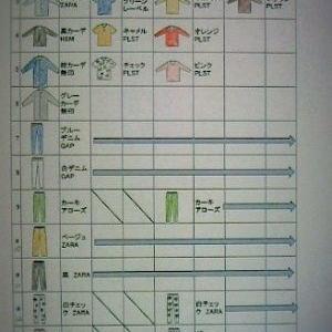手持ちの洋服の一覧表をつくってみました