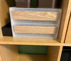【リメイク】無印のBOXに木のシートを貼ってナチュラルに