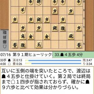 第91期棋聖戦 将棋 渡辺対藤井戦 第4局