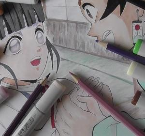 鬼滅の刃 コピックイラスト アニメ鬼滅の刃 26話のシーンを描いてみました。