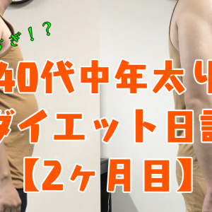 40代中年太り男のダイエット日記(パプリカダイエット・2か月目)