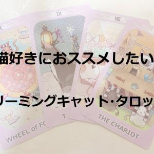 パステルカラーのかわいい猫【ドリーミングキャット・タロットカード】