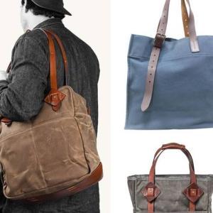 倉敷帆布と栃木レザーのビジネストートバッグ製作 その1 設計と材料調達